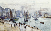 Claude Monet Fishing boats leaving the harbor, Le Havre
