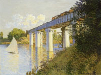 Claude Monet The railroad bridge at Argenteuil