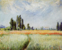 Claude Monet The wheatfield