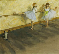 Edgar Degas Dancers Practicing at the Bar