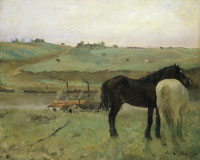 Edgar Degas Horses in the meadow