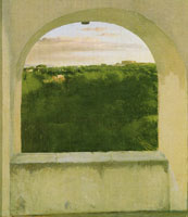 Edgar Degas Italian landscape seen through an arch