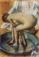 Edgar Degas Woman bathing in a shallow tub
