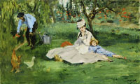 Edouard Manet The Monet Family in Their Garden at Argenteuil