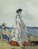 Eugène Boudin Princess Pauline Metternich on the Beach