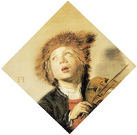 Frans Hals Boy playing a violin