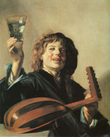 Frans Hals Lute Player with Wineglass in His Hand