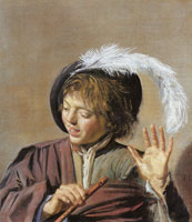 Frans Hals Singing Boy with a Flute