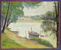 Georges Seurat Gray Weather, Grande Jatte