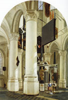 Gerard Houckgeest Interior of the Nieuwe Kerk, Delft, with the tomb of William the Silent