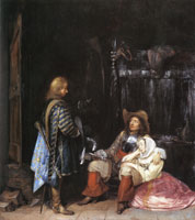 Gerard ter Borch The unwelcome call