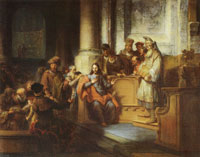 Gerbrand van den Eeckhout - Christ Teaching in the Synagogue at Nazareth