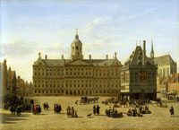 Gerrit Berckheyde - Dam Square with the New Town Hall in Amsterdam