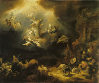 Govert Flinck The annunciation to the shepherds