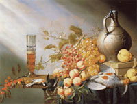 Harmen Steenwijck - Still life of fruit and dead fowl