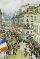 Childe Hassam July Fourteenth, Rue Daunou