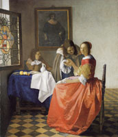 Johannes Vermeer Young Woman with a Wine Glass