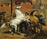 Horace Vernet The Start of the Race of the Riderless Horses