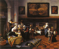 Jan Steen Child's Christening