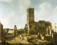 Jan Beerstraten The Ruins of the Old Town Hall of Amsterdam