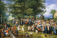 Jan Brueghel the Elder - Wedding Banquet Presided over by the Archdukes