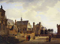 Jan van der Heyden Imaginary Square Inspired by Cologne Churches