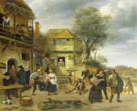 Jan Steen Peasants before an Inn