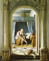 Jan Steen A Woman at Her Toilet