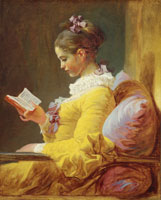 Jean-Honoré Fragonard Young Girl Reading