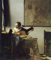 Johannes Vermeer Woman with a Lute