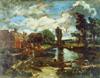 John Constable Flatford Mill from the lock