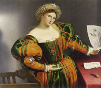 Lorenzo Lotto Portrait of a Woman inspired by Lucretia