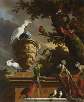 Melchior d'Hondecoeter The menagerie