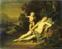 Willem van Mieris Venus and Cupid