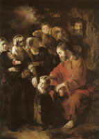 Nicolaes Maes Christ blessing the children