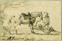 Philips Wouwerman Peeing horse