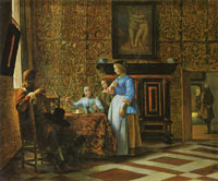 Pieter de Hooch A Party of Figures around a Table