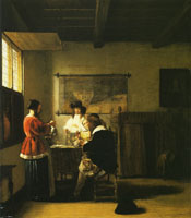Pieter de Hooch A Merry Company with Two Men and Two Women
