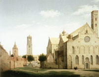 Pieter Saenredam - The Mariakerk and the Mariaplaats, Utrecht
