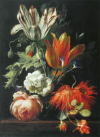 Simon Verelst A Vase of Flowers