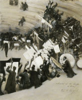 John Singer Sargent Rehearsal of the Pasdeloup Orchestra