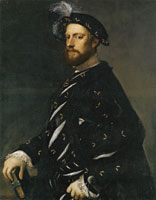 Titian Portrait of a Man Holding a Book