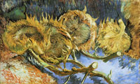 Vincent van Gogh - Four Cut Sunflowers, One Upside Down
