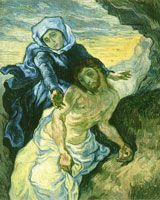 Vincent van Gogh after Eugene Delacroix Pietà