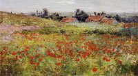Willard Metcalf Poppy Field (Landscape at Giverny)