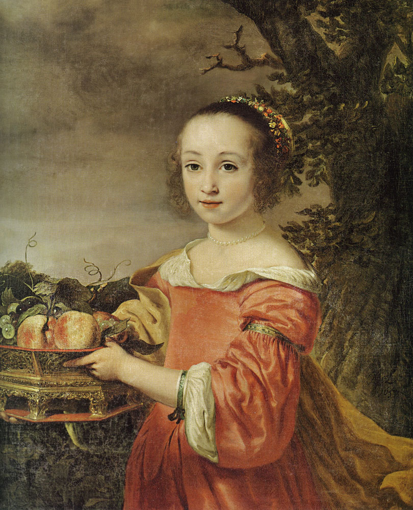 Ferdinand Bol - Petronella Elias with a Basket of Fruit