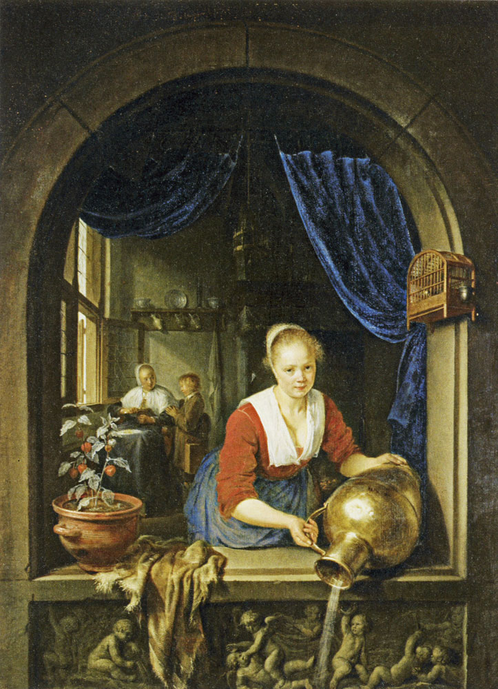Gerard Dou - Maid at a Window