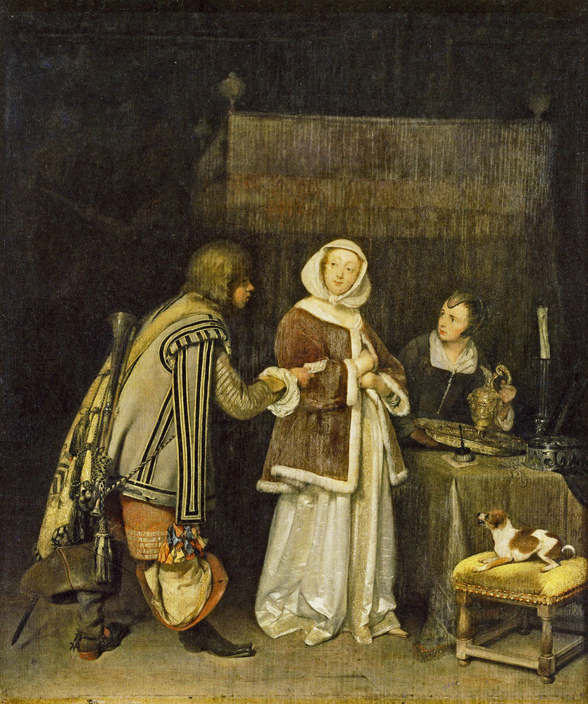 Gerard ter Borch - Young Woman Refusing a Letter