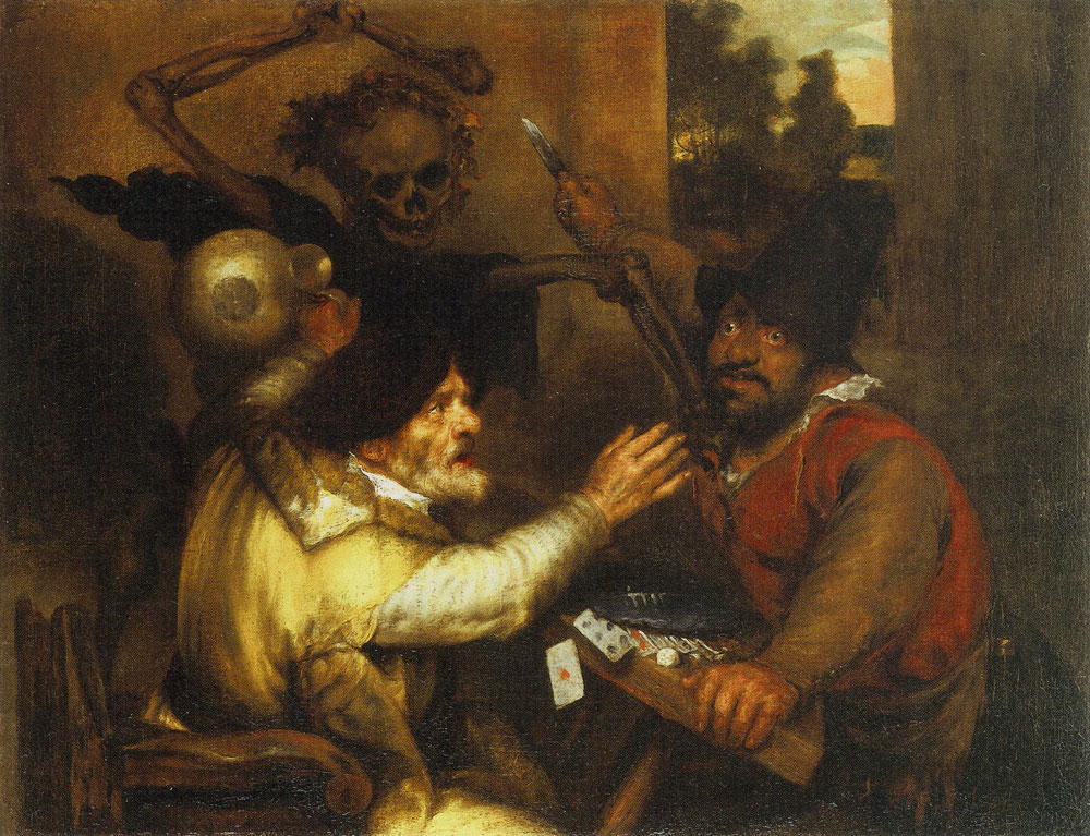 Jan Lievens - Fighting Cardplayers and Death