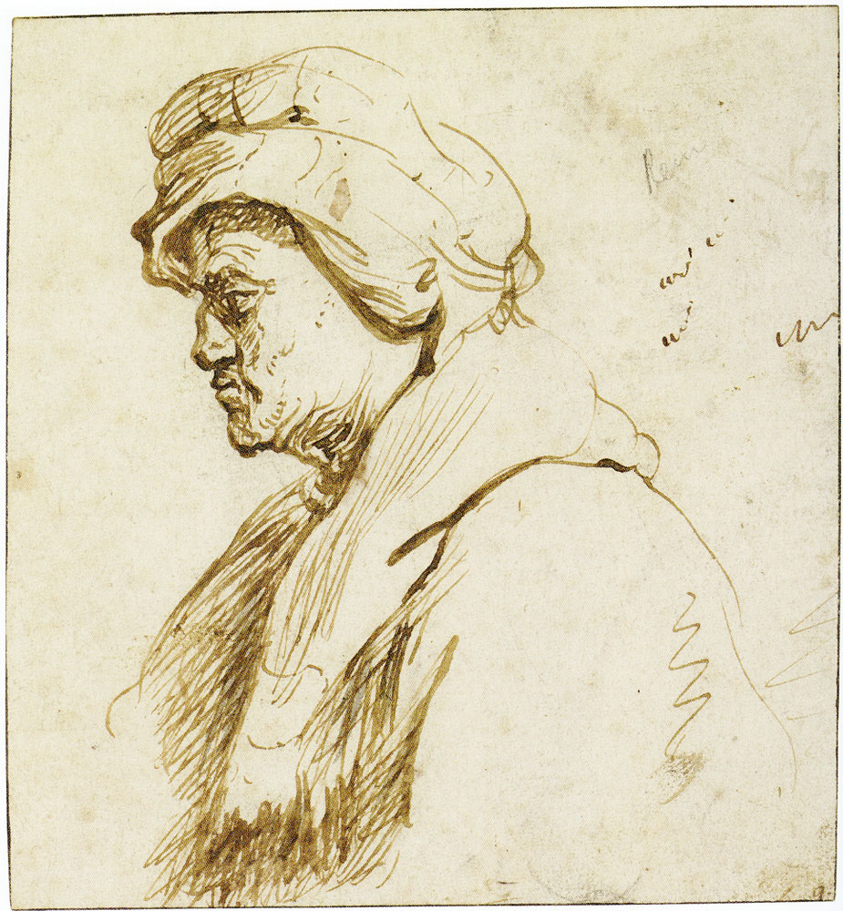 Jan Lievens - Old Woman in Half-Length Profile, Facing Left
